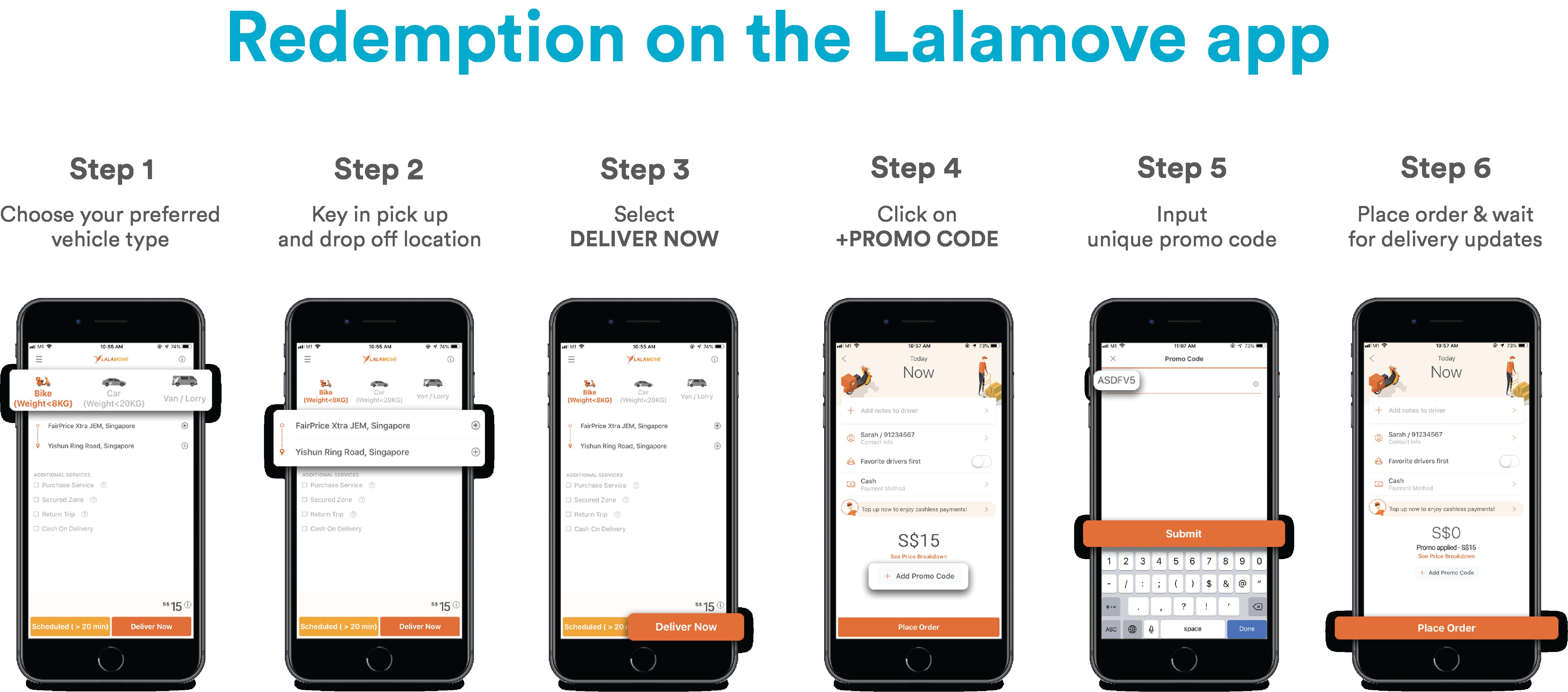 lalamove app redemption