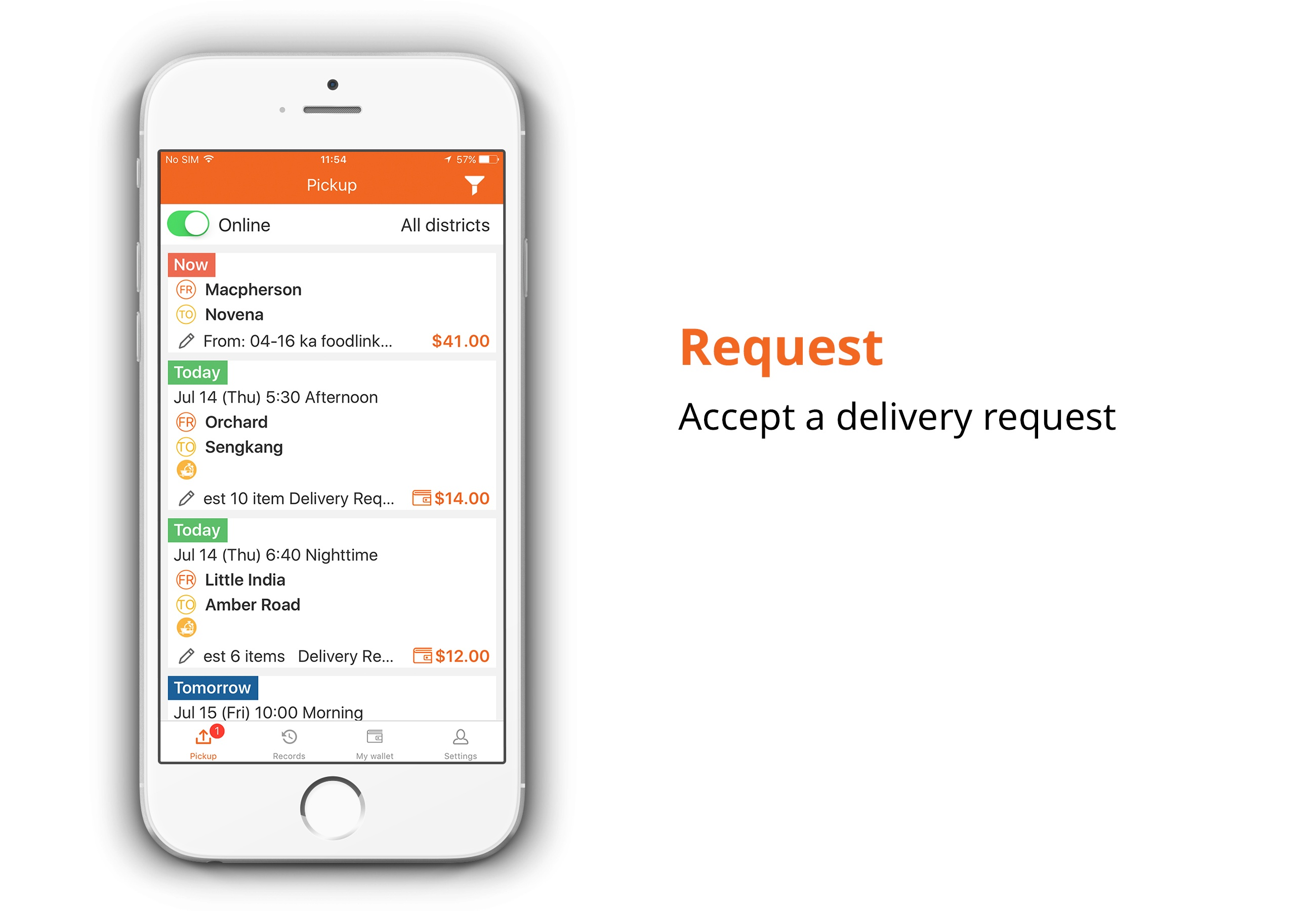 Lalamove singapore driver jobs accept a delivery request