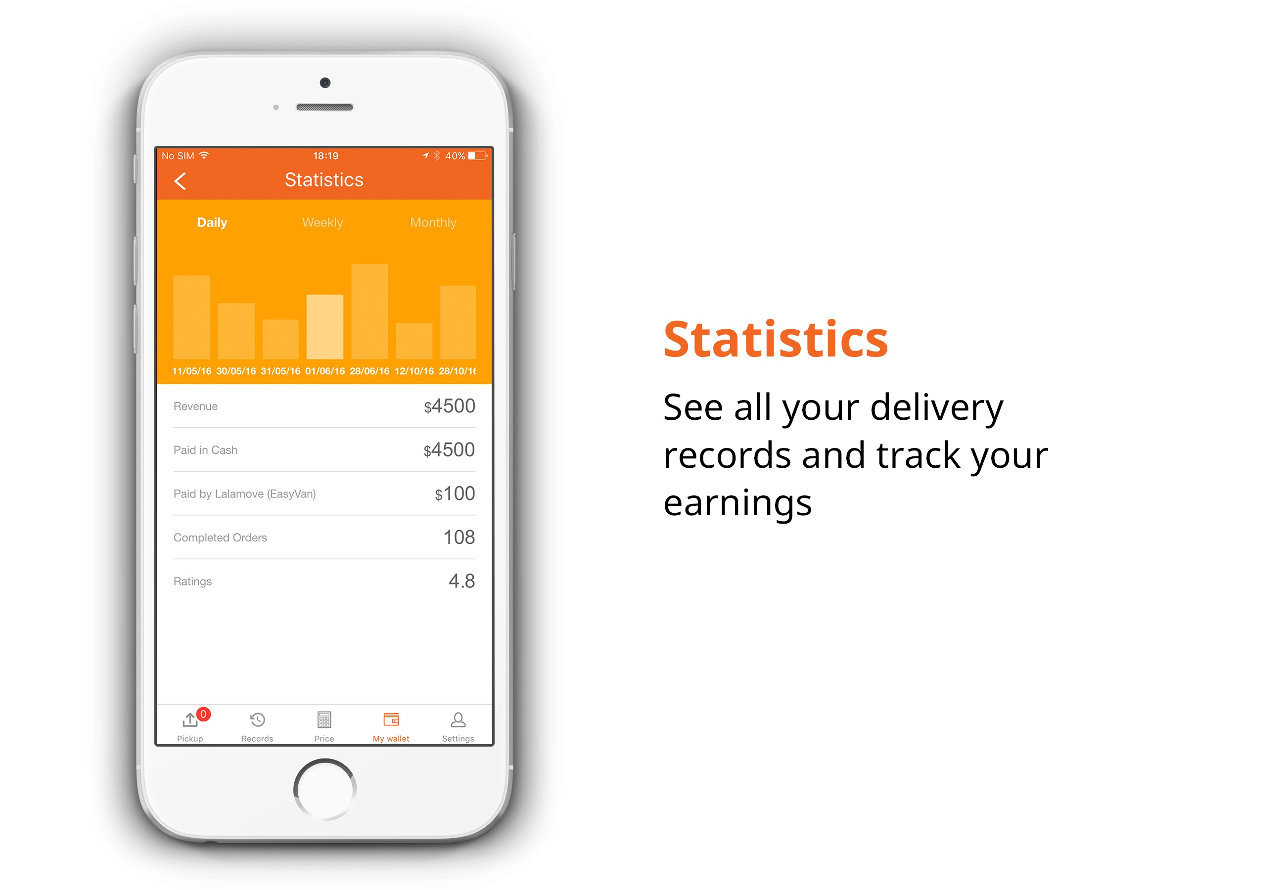 Lalamove singapore driver jobs view your statistics at ease