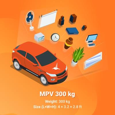Lalamove MPV 300 kg capacity