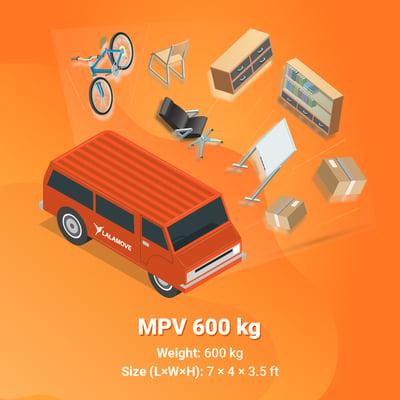 Lalamove MPV 600 kg capacity