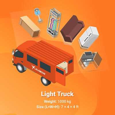 Lalamove Light Truck 1000 kg capacity