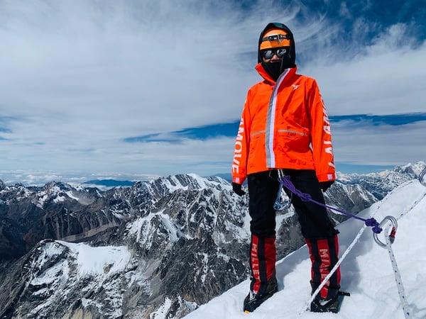 Ada Tsang on top of Lalamove Mountain