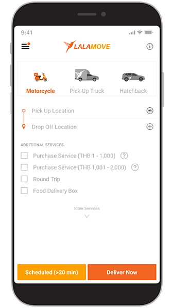 New Lalamove App Screen TH-EN-01