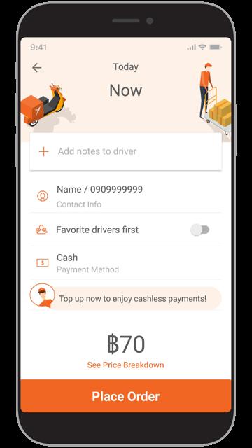 New Lalamove App Screen TH-EN-03