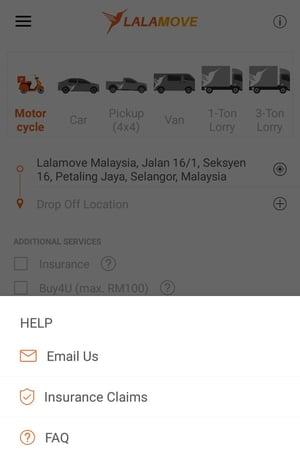 Lalamove app help centre