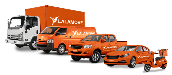 Lalamove delivery vehicles