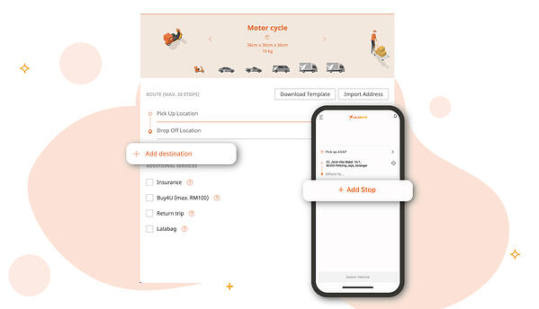 Lalamove mobile app and web app