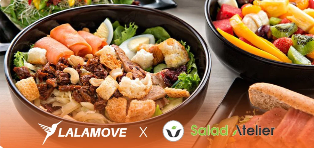 Lalamove on demand delivery for Salad Atelier