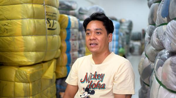 Mr Nawi runs a bundle clothing supply business
