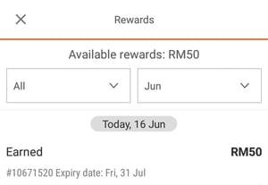 Rewards Credits details