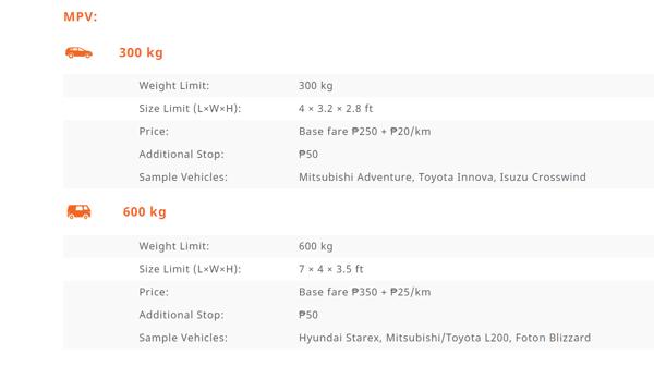 MPV Pricing