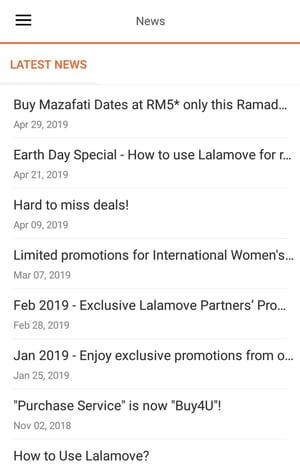 Lalamove Notifications