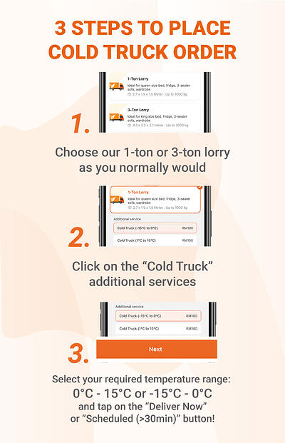 Steps to place a refrigerated truck delivery with the Lalamove app-1