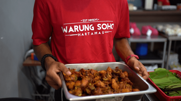 Warung Soho's yummy fried chicken