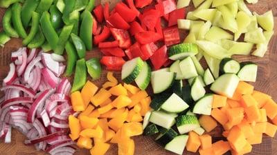 chopped vegetables