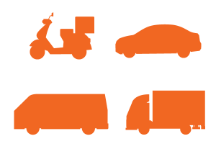 four vehicles