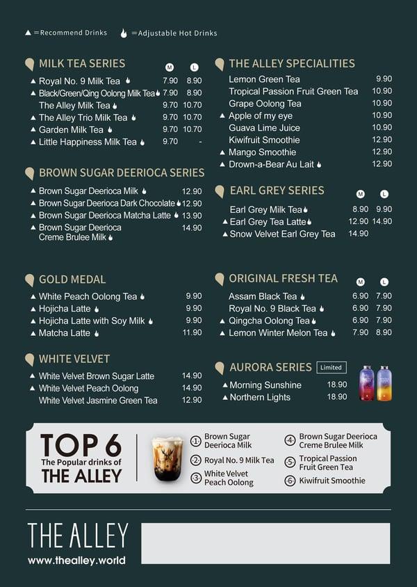 the-alley-malaysia-menu