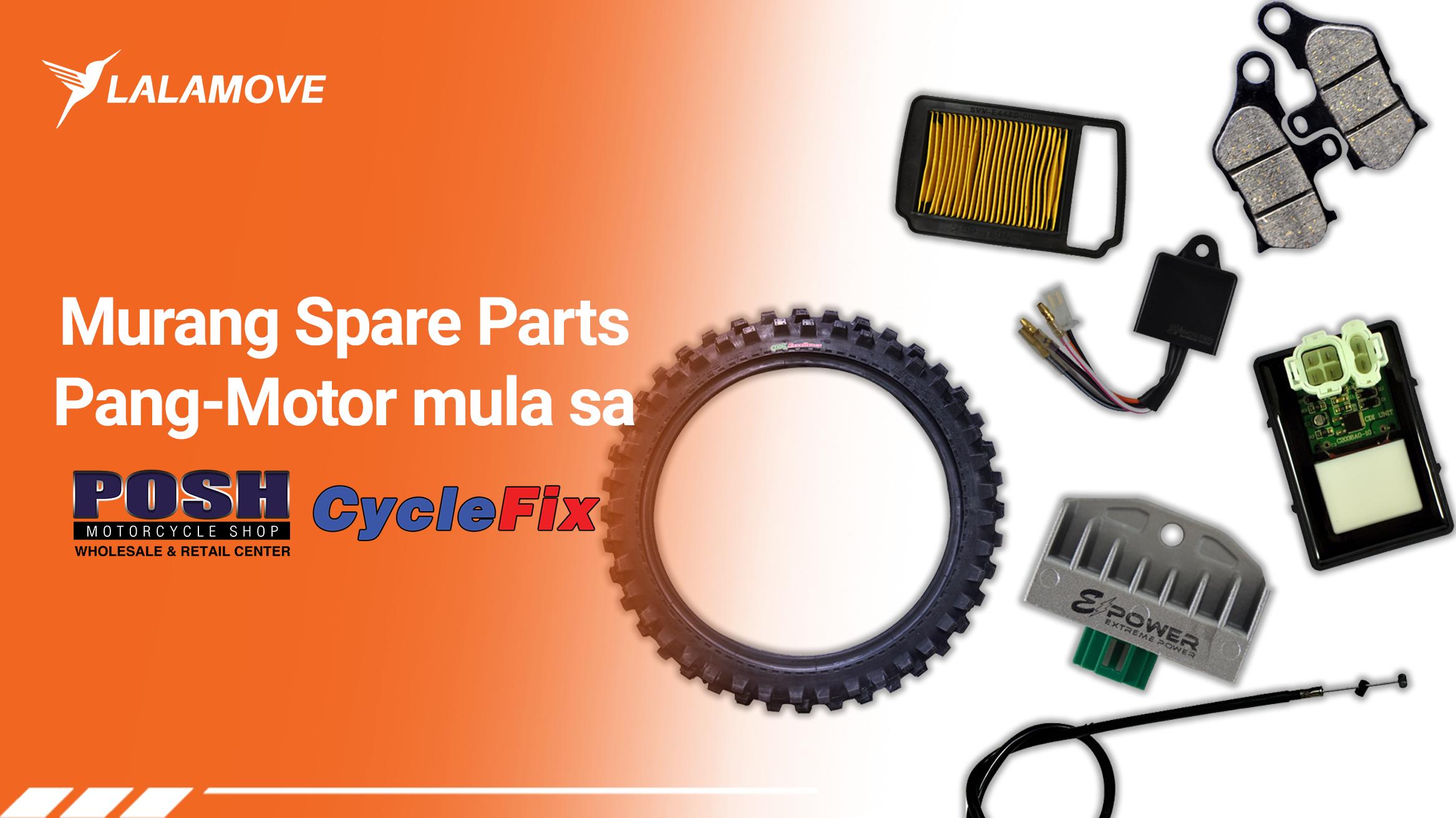 PANALOMOVE: Discount sa motorcycle spare parts mula sa Posh Motorcycle Shop at CycleFix