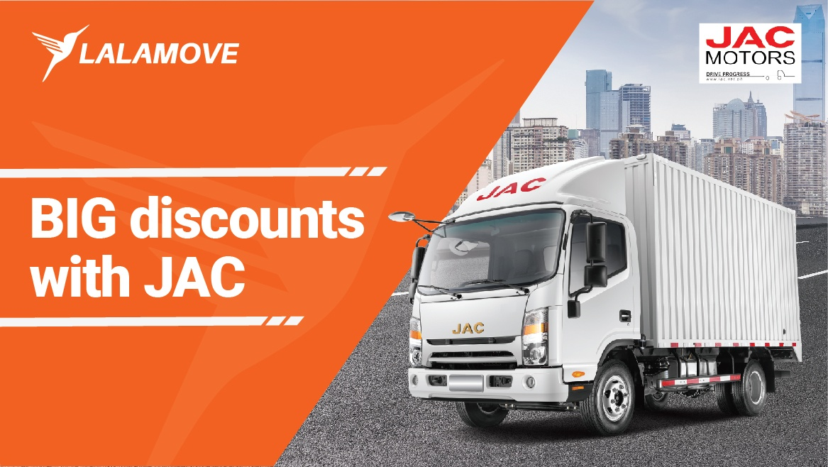 BIG discount awaits Lalamovers with JAC Motors!