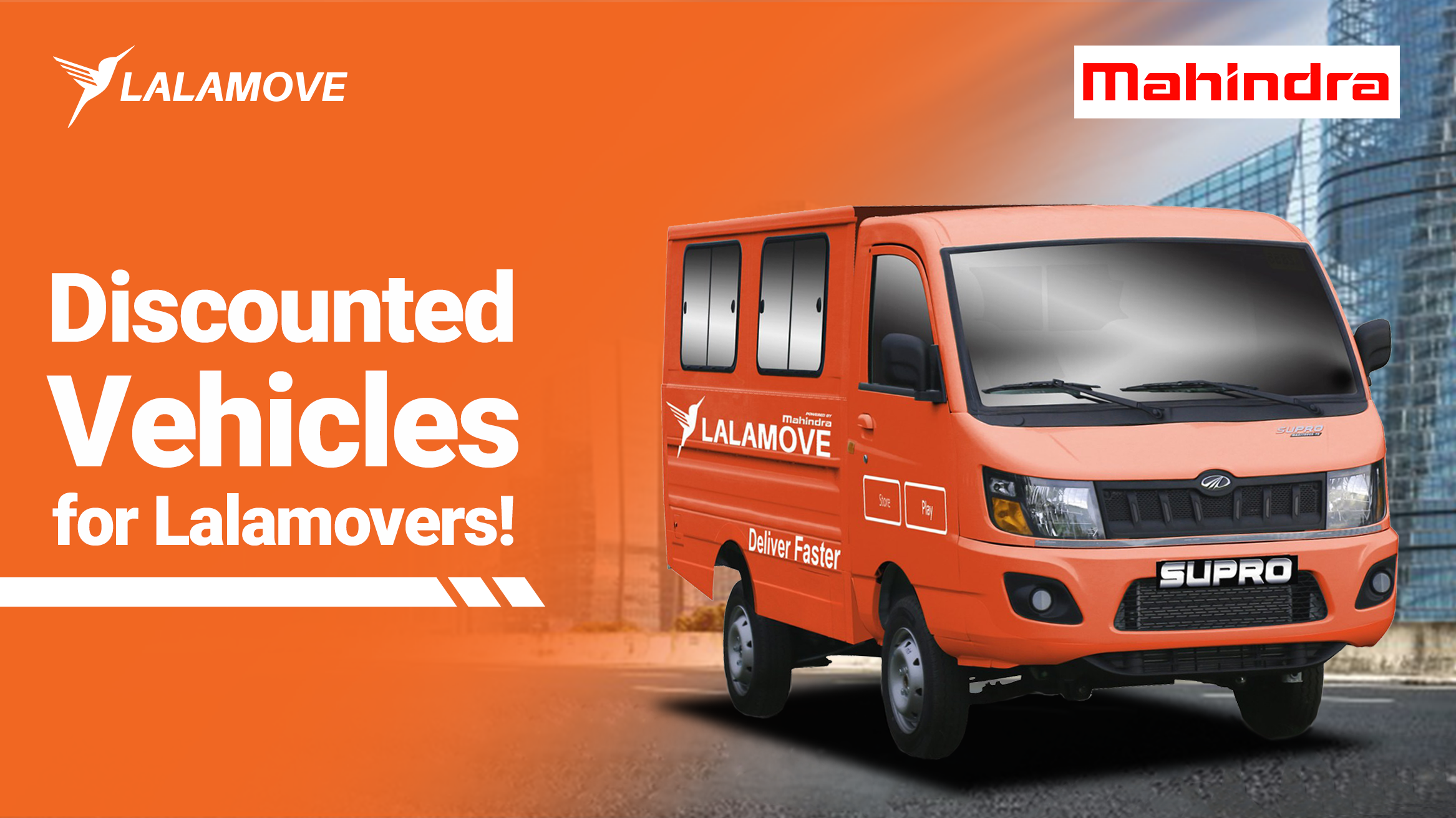 Enjoy special discounts on new vehicles from Lalamove and Mahindra Philippines