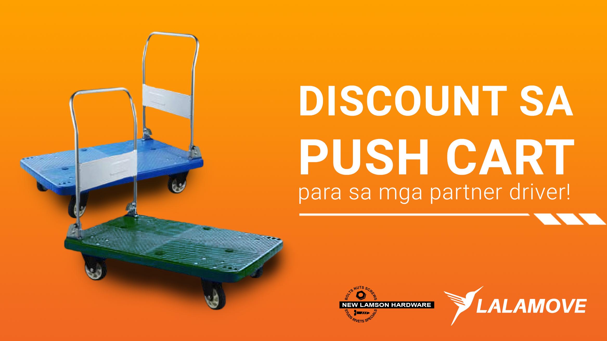 PANALOMOVE: Push lang sa delivery kasama ang mas murang push cart mula sa New Lamson Hardware