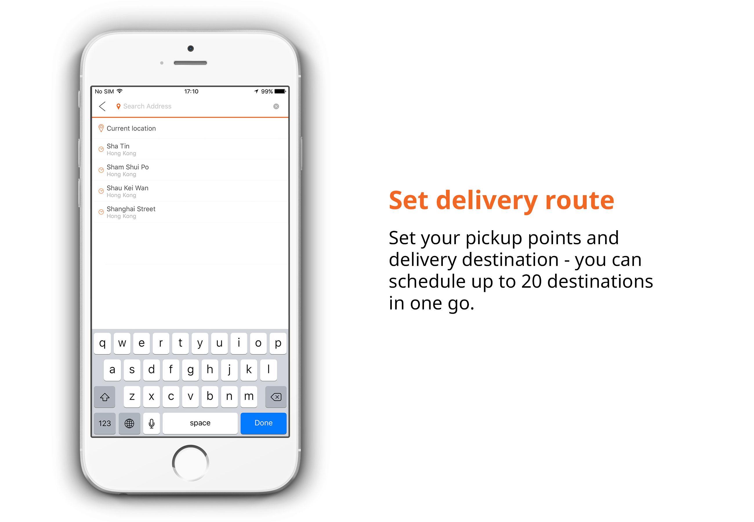Lalamove hongkong set delivery route