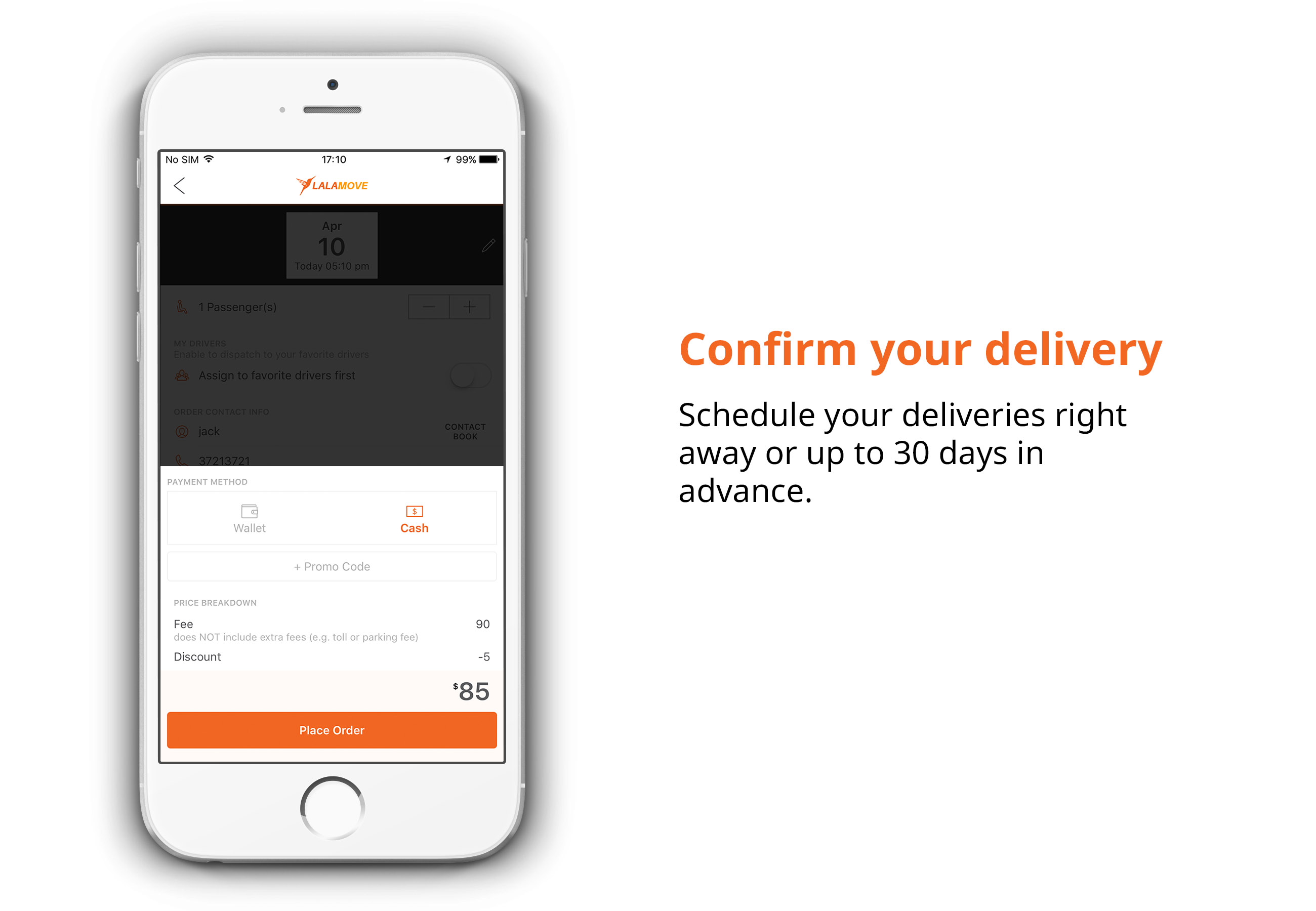 Confirm your delivery