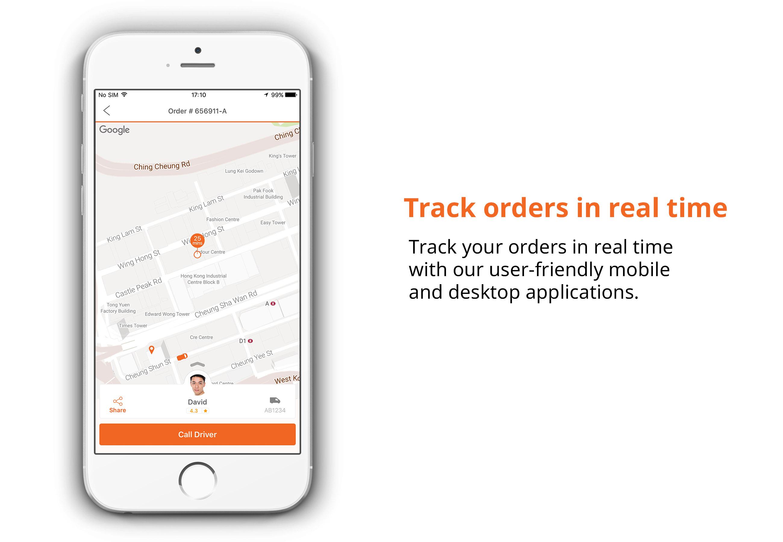 Lalamove hongkong track orders in real time