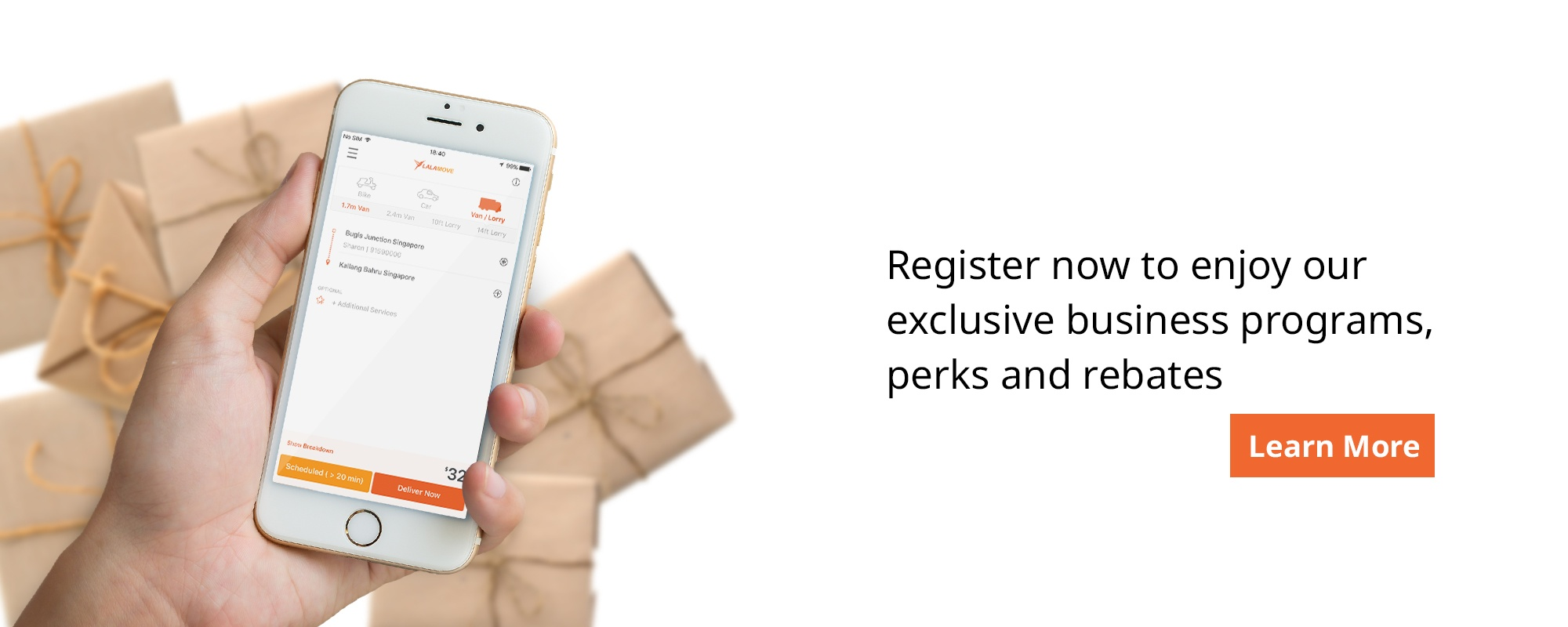 Register now to enjoy our exclusive business programs, perks and rebates
