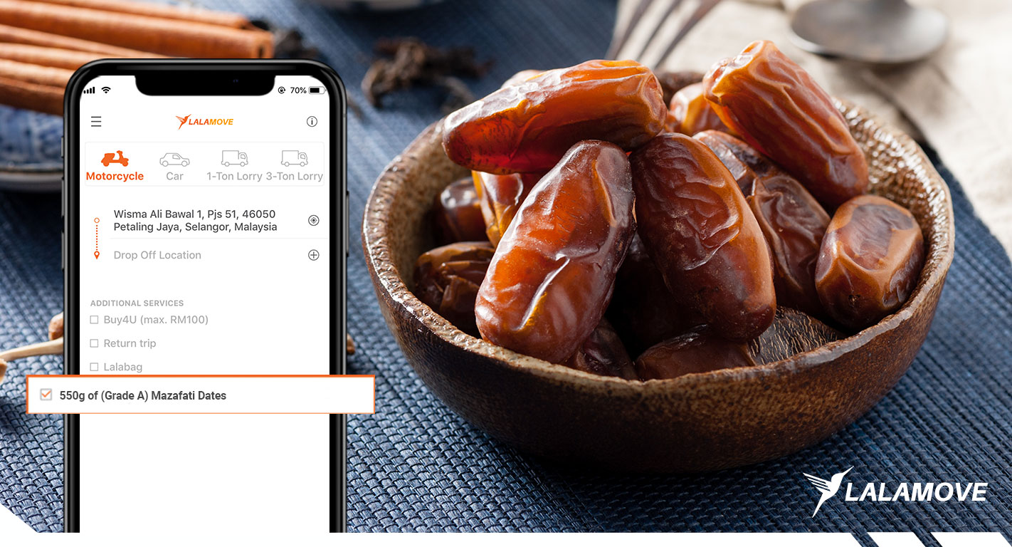 Delivery of Dates with Lalamove