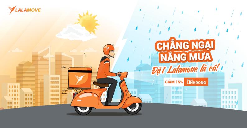 (13-20/5) Giảm 15% các chuyến giao hàng nội thành, chẳng ngại nắng mưa