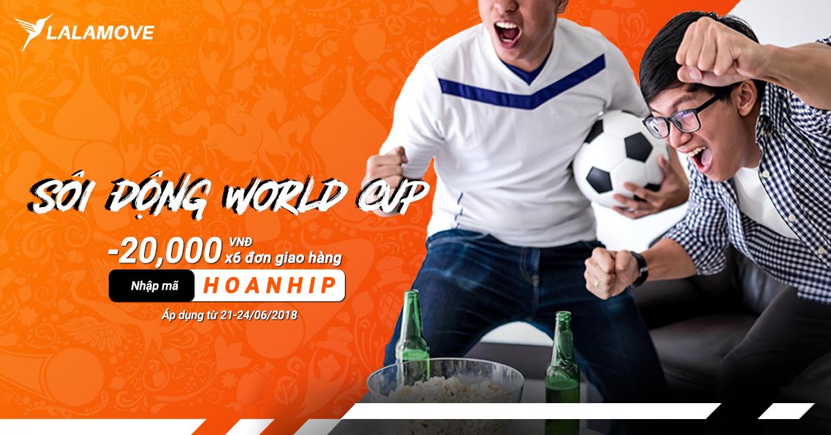 Hòa nhịp cùng World Cup 2018 - Nhận ngay mã ưu đãi HOT