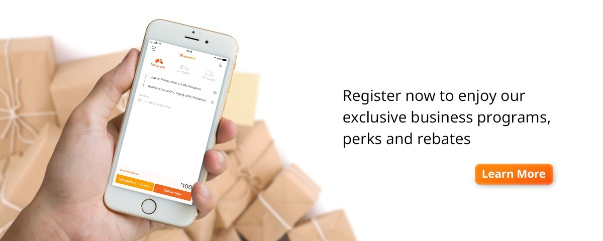Register now to enjoy our exclusive business programs, perks and rebates Lalamove Bangkok
