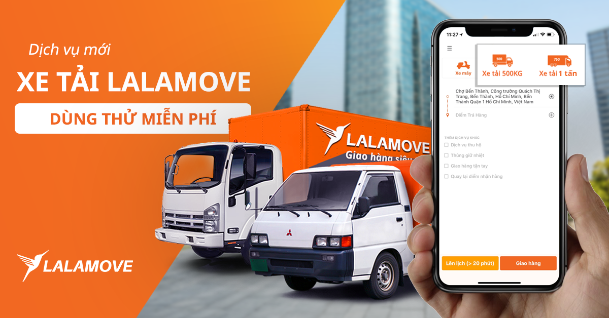 5 lợi ích khi trải nghiệm dịch vụ giao hàng nội thành xe tải cùng Lalamove