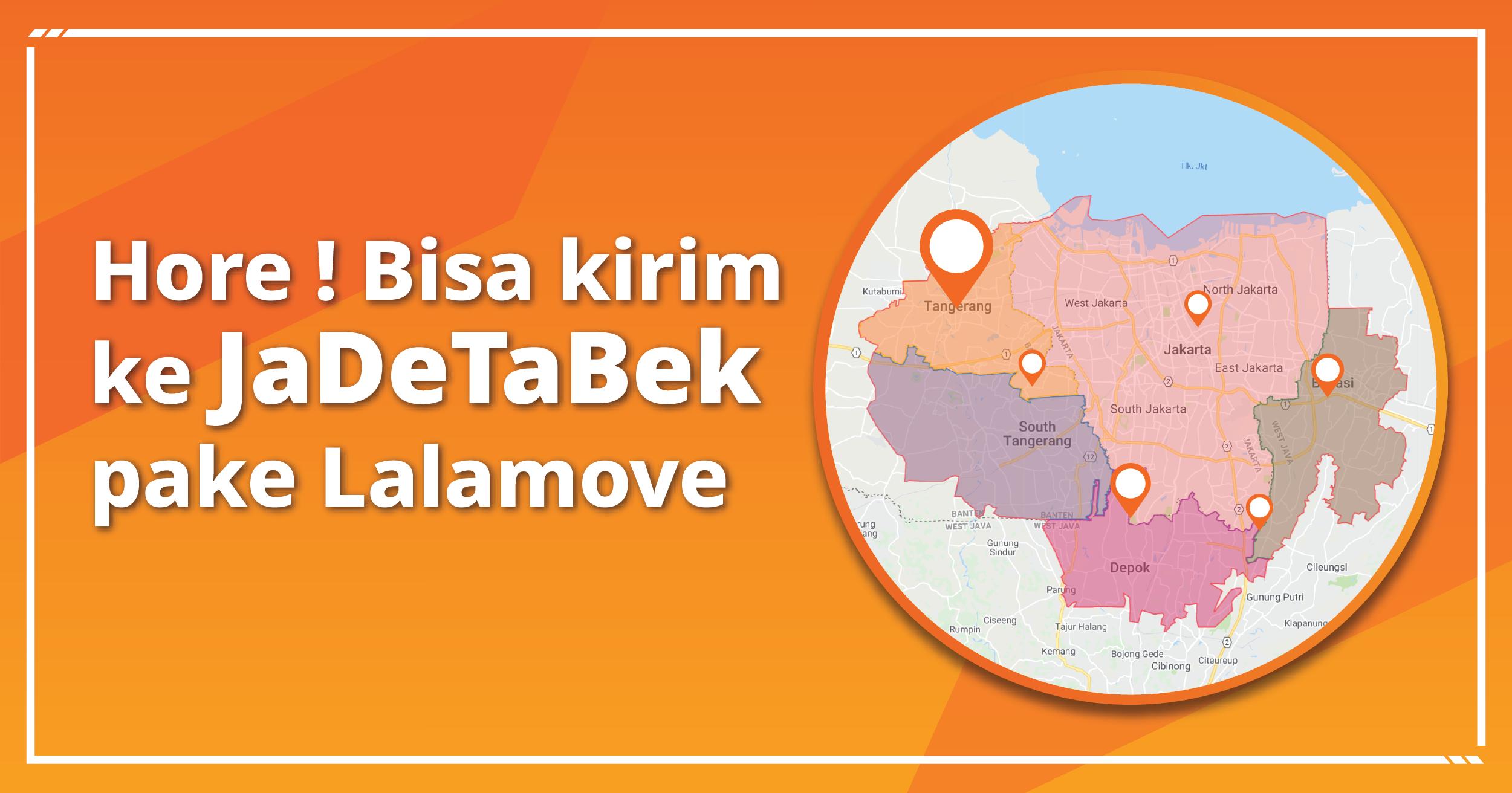 Area Pengiriman Lalamove di Jakarta dan sekitarnya